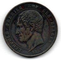 Belgique  -  10 Centimes 1853  -  Beau TTB - 1831-1865: Leopoldo I