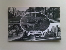 Black And White  Postcard -  Multi View,  Knole Park - England
