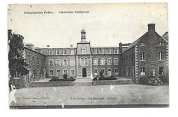 """50/ MANCHE... RARE..VILLEDIEU Les POELES. Institution Saint Joseph...CACHET Au Dos """"Hôpital Temporaire N 38 Villedieu.."""" - Villedieu"""