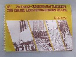 ISRAEL 70 YEARS HACHSHARAT HAYISHUV LAND DEVELOPMENT VINTAGE MAGAZINE ADVERTISING DESIGN ORIGINAL - Etiketten Van Hotels