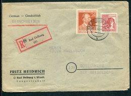 All.Besetzung / 1947 / Reco-Brief MiF Ex Bad Driburg (11376) - Gemeinschaftsausgaben