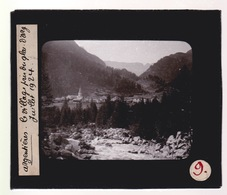 Oude Glasplaat (8,5 X 10cm).ARGENTIERES.   Le Village Pris Du Glacier D'Argentières - Glasplaten