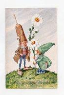 Féerique . Nains, Gnomes,  Fee Zwerge, Gnome  . Fairy. Dwarfs, Pixies - Neujahr