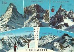 "3115 "" VALLE D'AOSTA-I GIGANTI "" 5 VEDUTE CART. POST. ORIG. SPED.1976 - Non Classificati"