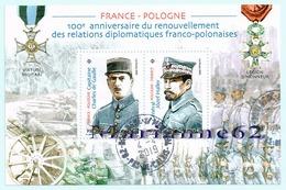 France 2019 BF 100è Anniversaire Du Renouvellement Des Relations Diplomatiques Franco-polonaise - MNH Or Cancelled - Blocs & Feuillets