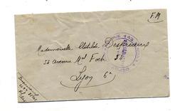 Lettre Franchise Militaire Cachet Infanterie 142 - Marcophilie (Lettres)
