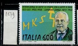 Italie - Italy - Italien 1990 Y&T N°1879 - Michel N°2147 *** - 600l G Giorgi - 1981-90: Neufs