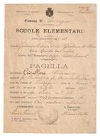 PA--00001-- PAGELLA ANNO SCOLASTICO 1921-1922- CLASSE 2 ELEMENTARE-COMUNE DI PEVERAGNO - Diplomi E Pagelle