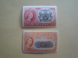 1959 Ste Hélène Yv 138 + 140  ** MNH Armoiries  Cote 1.90 € Michel 139 + 141 Scott 156 + 158 SG 169 + 171 - Sainte-Hélène
