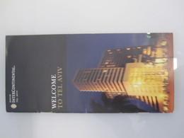 ISRAEL PALESTINE HOTEL DAVID INTERCONTINENTAL TEL AVIV FOLDER MULTIFOLD BROCHURE DESIGN LOGO BOOKPLATE - Manuscripts