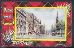 Scotland Postcard - Wallace Tartan - Princes Street Looking East, Edinburgh   DC1998 - Midlothian/ Edinburgh