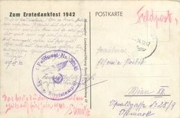 2 FELDPOST POSTMARKED POSTCARDS #90463 - War 1914-18