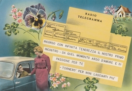 Telegramma - Cartolina Viaggiata Anni 60 - Parejas