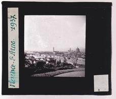 Oude Glasplaat (8,5 X 10cm).  FLORENCE.  Le Arno. 1937 - Plaques De Verre