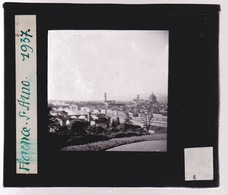 Oude Glasplaat (8,5 X 10cm).  FLORENCE.  Le Arno. 1937 - Glasplaten