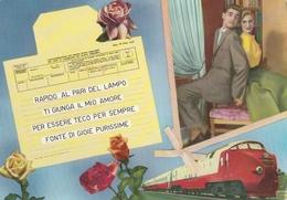 Telegramma - Cartolina Viaggiata Anni 60 - Coppie