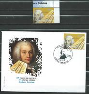 MACEDONIA 2019 - 250 Ann.the Death Of Anders Celsius.sciences.astronomy. Stamp And FDC . **MNH - Macédoine