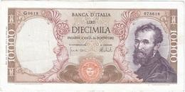 Italia - Italy 10,000 Lire 27-11-1973 Pk 97 F.2 Firmas : Carli Y Barbarito, Sello Tipo Medusa Ref 9 - 500 Liras