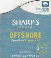 SHARP'S BREWERY (ROCK, ENGLAND) - OFFSHORE EXCEPTIONAL IPA -  WOODEN PUMP CLIP FRONT - Signs