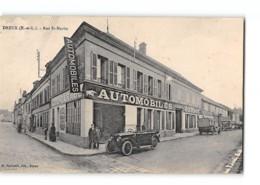 CPA 28 Dreux Rue St Martin Garage Davoust Et Hue - Dreux