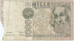 Italia - Italy 1,000 Lire 6-1-1982 Pk 109 A Firmas : Ciampi Y Stevani Ref 10 - [ 2] 1946-… : República
