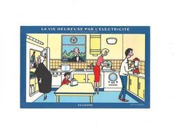 Buvard La Vie Heureuse Par L'électricité  La Cuisine - Electricity & Gas