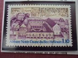 """70-79-  Timbre Oblitéré  N°1999    """"  Abbaye Bec Hellouin    """"   0.10 - France"""