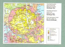 AK NÖRDLINGEN - LANDKARTE MAP GEBIETSKARTE - Noerdlingen