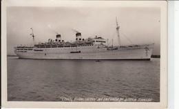 MOTONAVE SHIP CONTE BIANCAMANO - CARTOLINA ORIGINALE SPEDITA NEL 1951 - Paquebots