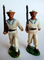 SOLDAT FIGURINE FIG STARLUX 2 MARINS 46 DEFILANTS MARIN 1955 Défectueux Lot 2 Soldats (1) - Starlux