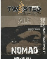 TWISTED BREWING CO (WESTBURY, ENGLAND) - NOMAD GOLDEN ALE - PUMP CLIP FRONT - Signs