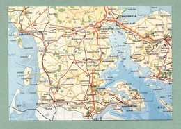 AK TONDER ABENRA FREDERICIA - LANDKARTE MAP GEBIETSKARTE - Dinamarca