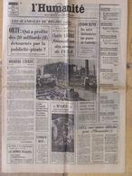 Journal L'Humanité (25 Janv 1972) ORTF - Indochine - Bettencourt/Franco - Charlie Lascorz - Mars-3 - 1950 à Nos Jours