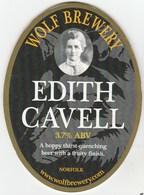 WOLF BREWERY (ATTLEBOROUGH, ENGLAND) - EDITH CAVELL - PUMP CLIP FRONT - Schilder