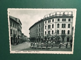 Cartolina Conegliano - Fontana Nettuno, E Via Cavour - 1952 - Treviso
