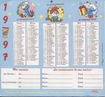 CALENDRIER 1997 - LES SCHTROUMPFS - Petit Format : 1991-00
