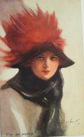 """""""Künstlerkarte, Frauen, Mode, Hutmode"""" 1911, Sig, C.H. Barber ♥  - 1900-1949"""