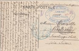 France Carte Prisonnier De Guerre Dépôt St  Rémy Censurée En Moselle 1915 - Postmark Collection (Covers)