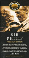WINCLE BEER CO  (WINCLE, ENGLAND) - SIR PHILLIP PREMIUM BITTER - PUMP CLIP FRONT - Signs