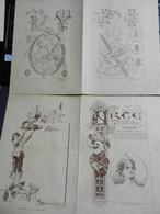 8g) ARTE MINUSCOLA LEZIONE DI DISEGNO ANNO 4 N° 49 DUE FOGLI CON VARIE IMMAGINI - Libri, Riviste, Fumetti