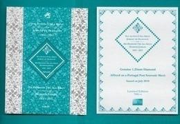 TIMBRES- STAMPS- PORTUGAL -2018- SON ALTESSE L'AGA KHAN -DIAMOND JUBILEE -TIMBRE DU BLOC AVEC UN PETIT DIAMANT (1,25 Mm) - 1910-... République