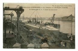 Etablissement Schneider, Chantiers Chalon S Saône - Le Submersible S.C. 3 Avant Son Lancement - Pas Circulé, Effacement - Chalon Sur Saone