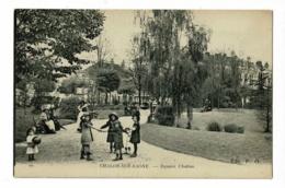79 - Chalon S Saône - Square Chabas (animation, Les Fillettes Font La Ronde) Circ 1915, Sous Enveloppe - Chalon Sur Saone