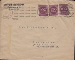 INFLA: DR 3x 268 A MeF, Auf Brief Der Fa. Alfred Schaber, Stempel: Heilbronn N. 1.5.1923 - Deutschland