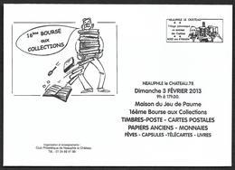 NEAUPHLE Le Château  - Bourse Du 3 Fev 2013 - Neuve Et Entière - Marcophilie (Lettres)