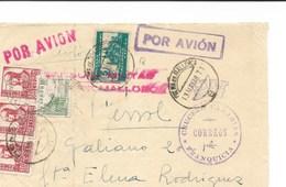 España. Guerra Civil. Frontal De Carta De Mallorca A El Ferrol Con Franquicia Naval - 1931-Today: 2nd Rep - ... Juan Carlos I