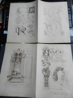 8g) ARTE MINUSCOLA LEZIONE DI DISEGNO ANNO 1898 N° 49 DUE FOGLI CON VARIE IMMAGINI STAMPA CASTELLO LERICI - Libri, Riviste, Fumetti