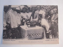 POSTCARD MAN FRANCE PHONOGRAPH LAOS PICTURE ADVERTISING DESIGN PHOTO POST CARD PC - Unclassified