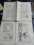 8g) ARTE MINUSCOLA LEZIONE DI DISEGNO 6 NOVEMBRE 1898  DUE FOGLI CON VARIE IMMAGINI - Libri, Riviste, Fumetti