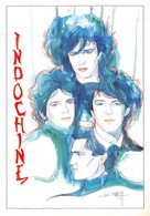 INDOCHINE - Groupe De Pop Rock Français - Illustration José Corréa - Editions Dalix N'27 - Singers & Musicians
